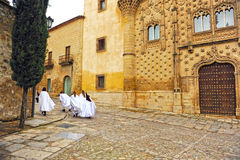 Nazarenes, Holy Week in Baeza, Jaen province, Andalusia, Spain Stock Images