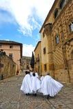 Nazarenes, semana santa en Baeza, provincia de Jaén, Andalucía, España Fotos de archivo libres de regalías