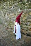 Nazarenes, semana santa en Baeza, provincia de Jaén, Andalucía, España Fotografía de archivo libre de regalías