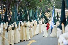 Nazareni con le candele Fotografia Stock Libera da Diritti