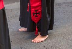 Nazareno Barefoot imagem de stock