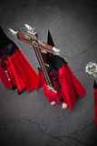 Nazareno carrying the Holy Cross as penitence Royalty Free Stock Photography