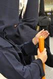 Nazareno portant un cirio. Photographie stock