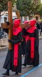 Nazarenos Carrying a Cross Royalty Free Stock Photos