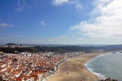 Nazarestad, Portugal Royalty-vrije Stock Foto's