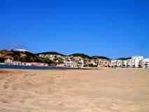 Nazarestrand, Leiria, Portugal royalty-vrije stock afbeeldingen