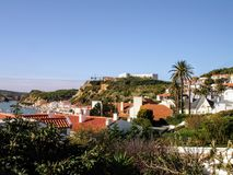 Nazarestrand, Leiria, Portugal stock foto