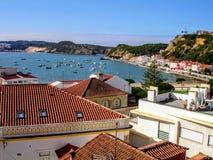 Nazarestrand, Leiria, Portugal royalty-vrije stock foto