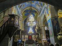 NAZARET ISRAEL, Juli 8, 2015: Bibliska platser från livet av Fotografering för Bildbyråer
