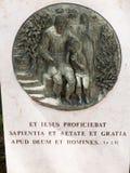 NAZARET ISRAEL, Juli 8, 2015: Bibliska platser från livet av Royaltyfri Bild
