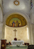 NAZARET, ISRAEL, July 8, 2015: inside the Church of St. Joseph i Stock Photos