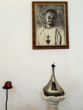 NAZARET, ISRAEL 11 July 2015: Reliquary and the image of Blessed Stock Photos