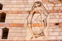 NAZARET, ISRAEL - NOVIEMBRE DE 2011: Alivio de la Virgen María Foto de archivo