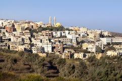 在Nazareth附近的巴勒斯坦村庄 库存照片
