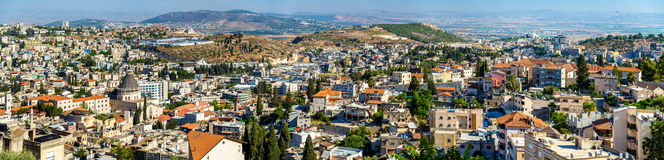 Nazareth with Basilica of Annunciation. Panorama of Nazareth with Basilica of Annunciation - Israel Stock Photos