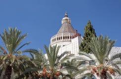 Nazareth Basilica der Ankündigung lizenzfreie stockfotos