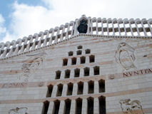 Nazareth Basilica part of facade 2010 Royalty Free Stock Photos