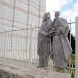 Nazareth Basilica Pope Paul VI och ekumenisk patriark Athenago Royaltyfri Foto