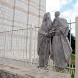Nazareth Basilica Pope Paul VI y patriarca ecuménico Athenago Foto de archivo libre de regalías