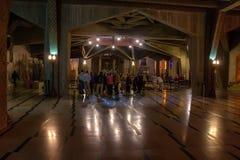 NAZARETH, ISRAËL - NOVEMBER 2011: Binnenland van de Basiliek van de Aankondiging Stock Afbeeldingen