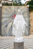 Blessed Virgin Mary statue at Greek Orthodox Church royalty free stock images