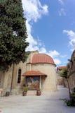 Nazareth, Israel - 17. Februar 2017 Griechisch-orthodoxe Kirche des ersten Wunders lizenzfreies stockbild