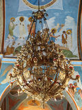 Nazareth, Israel, July 8, 2015 .: Ornate chandelier in the ortho Stock Image