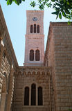 Nazareth, Israel, Middle East, St. Joseph`s Church, bell tower, religion, pilgrimage, Holy Land. The bell tower of St. Joseph`s Church on September 2, 2015.  St Royalty Free Stock Image