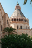 Nazareth, Israel, Middle East, the Church of the Annunciation, Holy Land, pilgrimage, religion, catholicism, biblical place. The Church of the Annunciation on Royalty Free Stock Photo