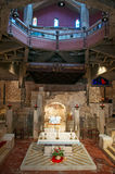 Nazareth, Israel, Middle East, the Church of the Annunciation, Holy Land, pilgrimage, religion, catholicism, biblical place. The lower level of the Church of the Royalty Free Stock Images