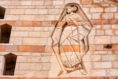 NAZARETH ISRAEL - NOVEMBER 2011: Jungfruliga Mary lättnad Arkivfoto