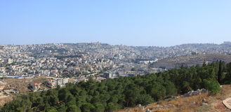 Nazareth from the Mount Precipice, Israel Stock Photography