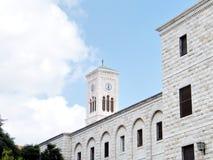 Nazareth Terra Sancta School en Toren 2010 stock foto