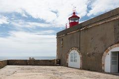 Nazarevuurtoren, Portugal Royalty-vrije Stock Fotografie
