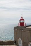 Nazarevuurtoren, Portugal Stock Foto's