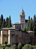 Nazaries slott-Alhambra-GRANADA-Andalusia-Spanien - EUROPA royaltyfri fotografi