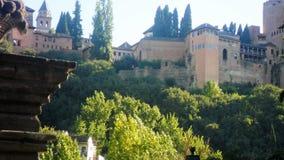 Nazaries slottar av Granada Arkivbilder