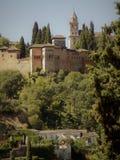 Nazaries slottar Granada-Andalusia arkivbilder