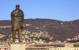 Nazario Sauro zabytek przy Trieste, Włochy Zdjęcie Royalty Free