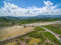 Nazas River. In the state of Durango, Mexico Stock Photo