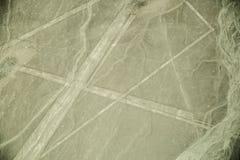 Nazca выравнивается на пустыне в Перу, Южной Америке Стоковая Фотография