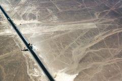 Nazca выравнивает шоссе и точку зрения Стоковые Изображения RF