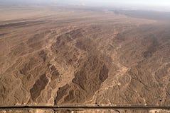 Nazca allinea - base di fiume asciutta - la vista aerea Immagine Stock Libera da Diritti