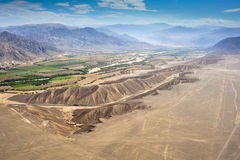 Nazca desert in Peru Royalty Free Stock Photo