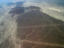 Nazca desert in Peru. Panorama of Nazca desert in Peru Stock Photography