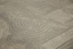 Nazca desert, Peru, lines in the form of a twisting spiral royalty free stock photo