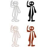 Nazca lines. Set - vector illustration Royalty Free Stock Photo