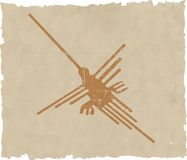 Nazca lines. Background - vector illustration Stock Photography