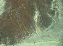 Nazca Lines: The Astronaut Royalty Free Stock Photo