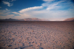 Nazca Lines in the beautiful sunset. Royalty Free Stock Images